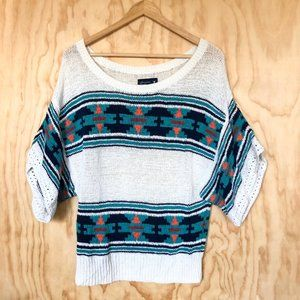 American Eagle • Short Sleeve Sweater